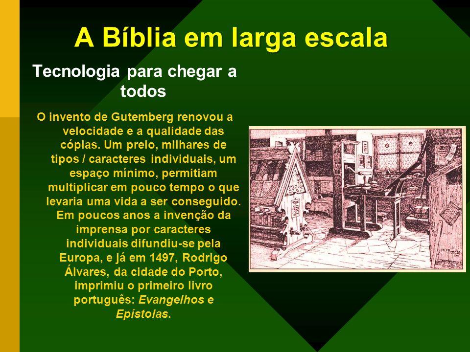 A Bíblia em larga escala