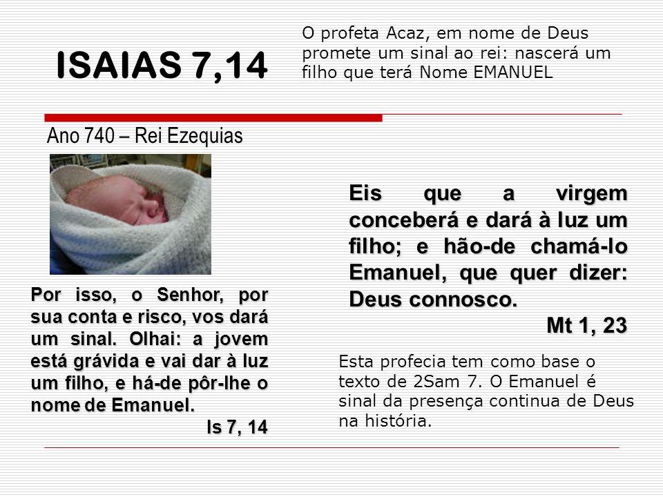 ISAIAS 7,14 Ano 740 – Rei Ezequias