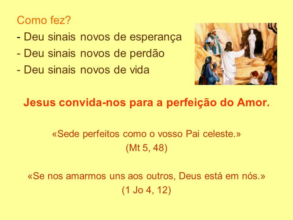 Jesus convida-nos para a perfeição do Amor.