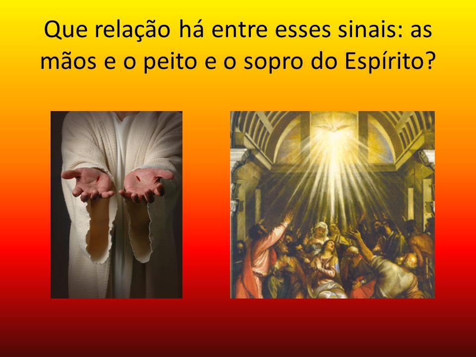Que relação há entre esses sinais: as mãos e o peito e o sopro do Espírito