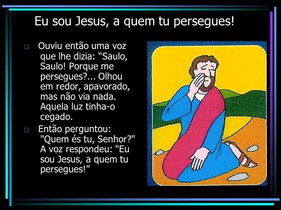 Eu sou Jesus, a quem tu persegues!