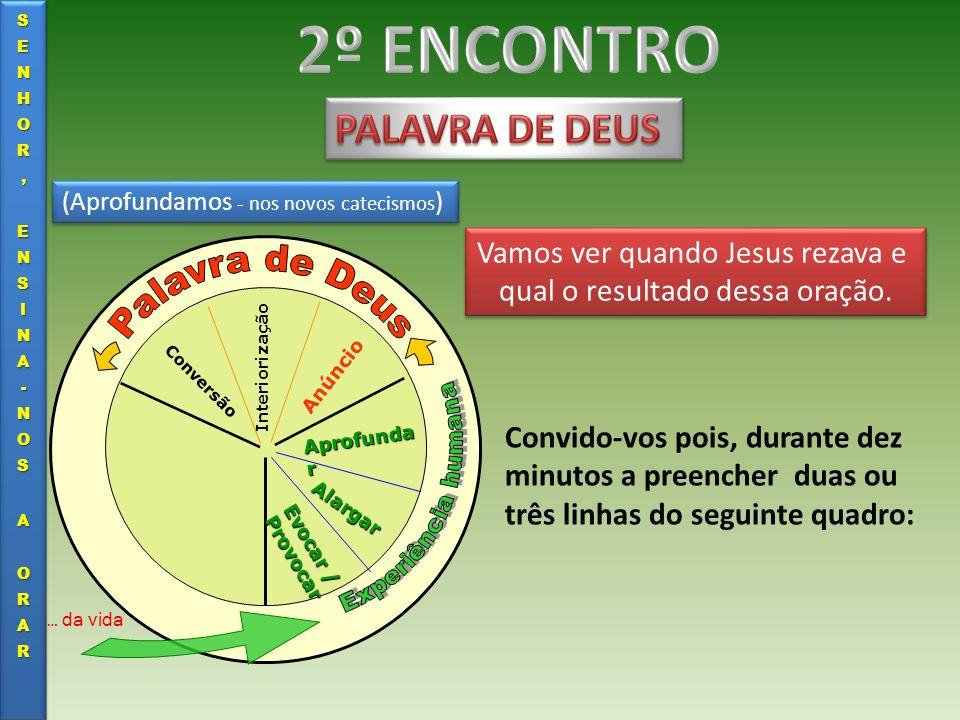 2º ENCONTRO Palavra de Deus PALAVRA DE DEUS Experiência humana