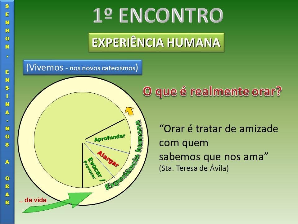 1º ENCONTRO EXPERIÊNCIA HUMANA O que é realmente orar