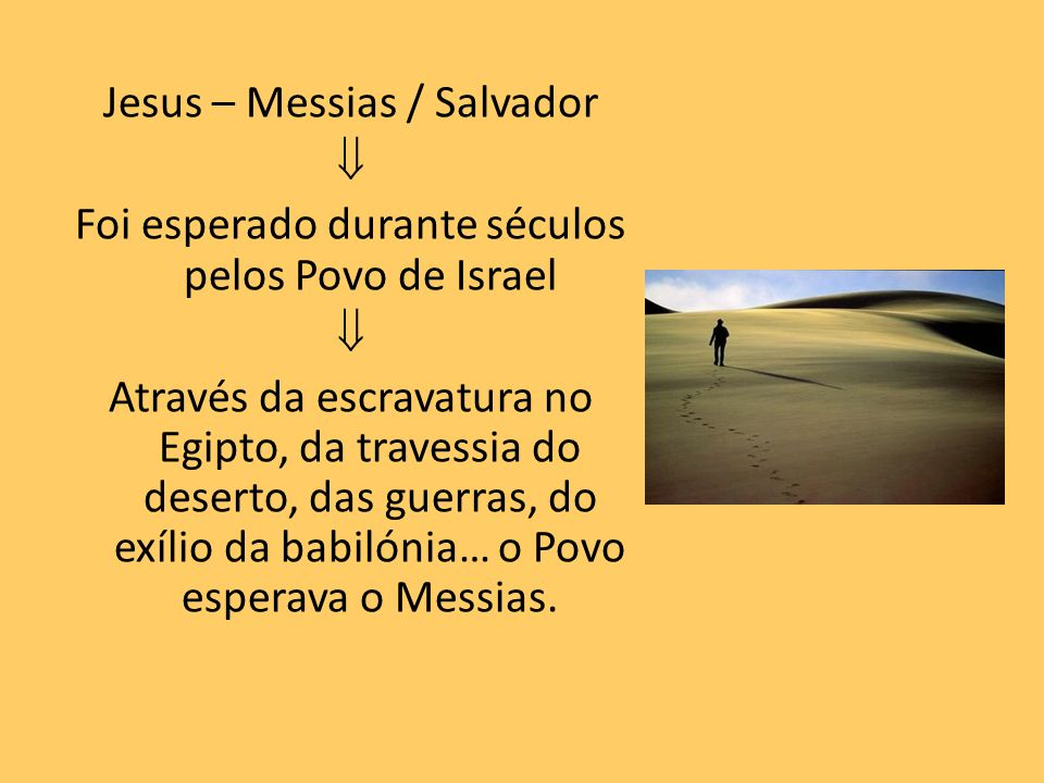 Jesus – Messias / Salvador 