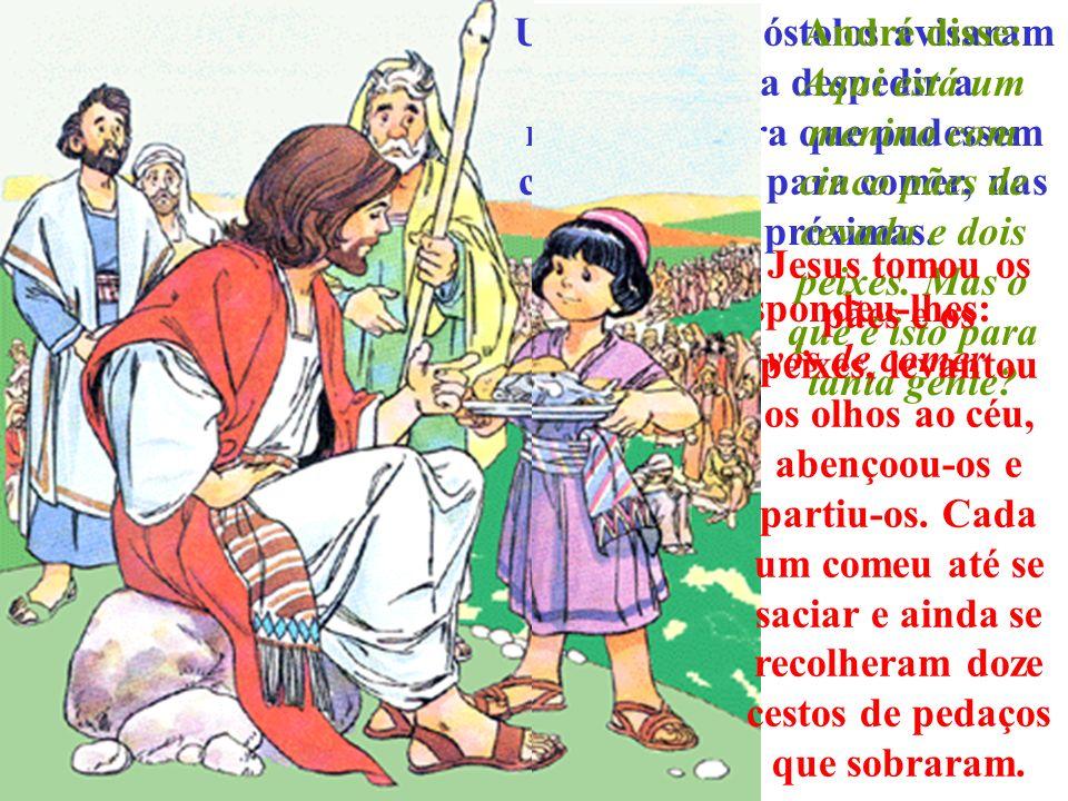 Jesus respondeu-lhes: dai-lhes vós de comer