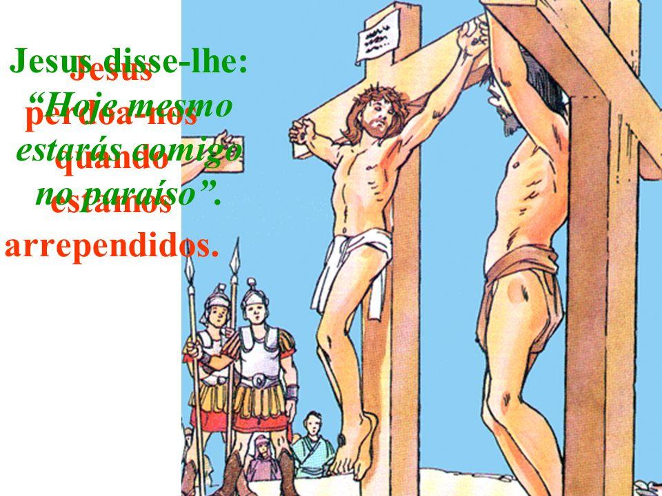Jesus perdoa-nos quando estamos arrependidos.