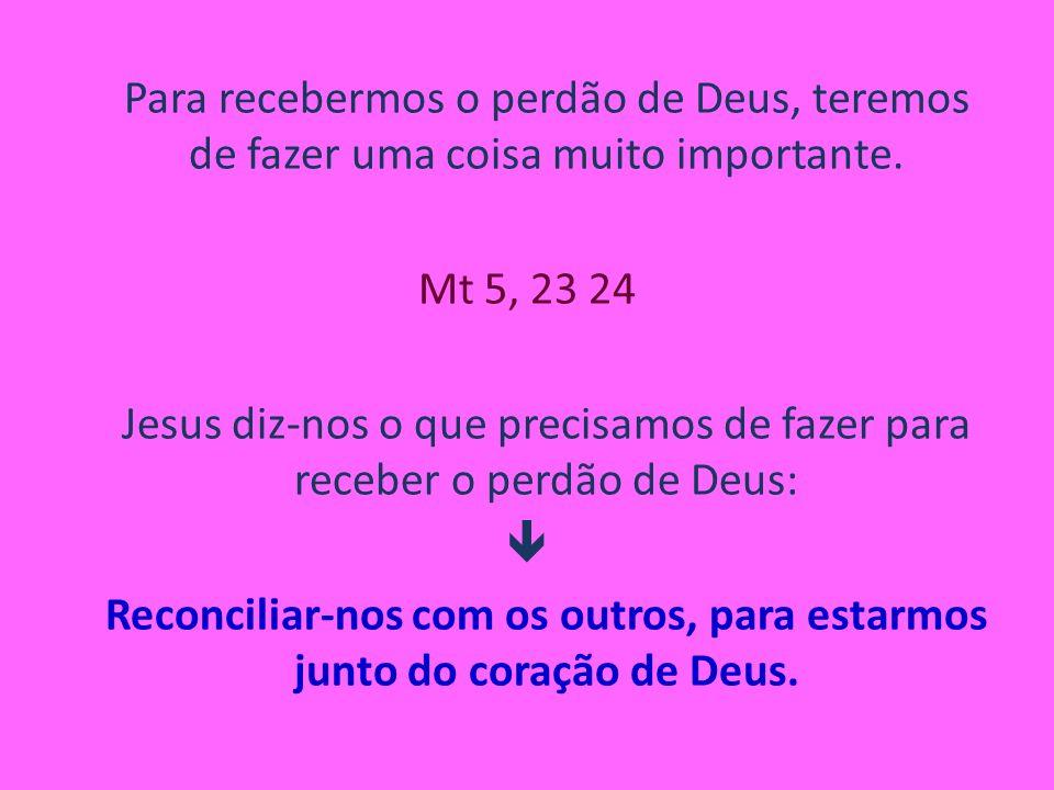 Para recebermos o perdão de Deus, teremos de fazer uma coisa muito importante.