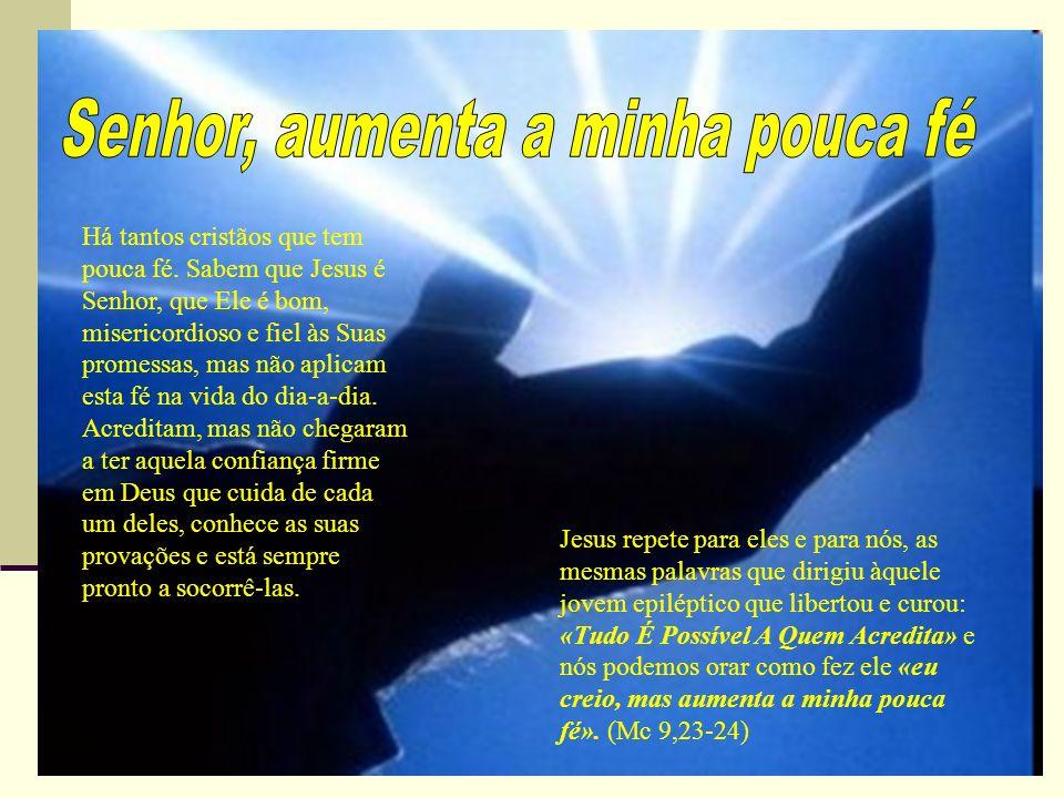 Senhor, aumenta a minha pouca fé