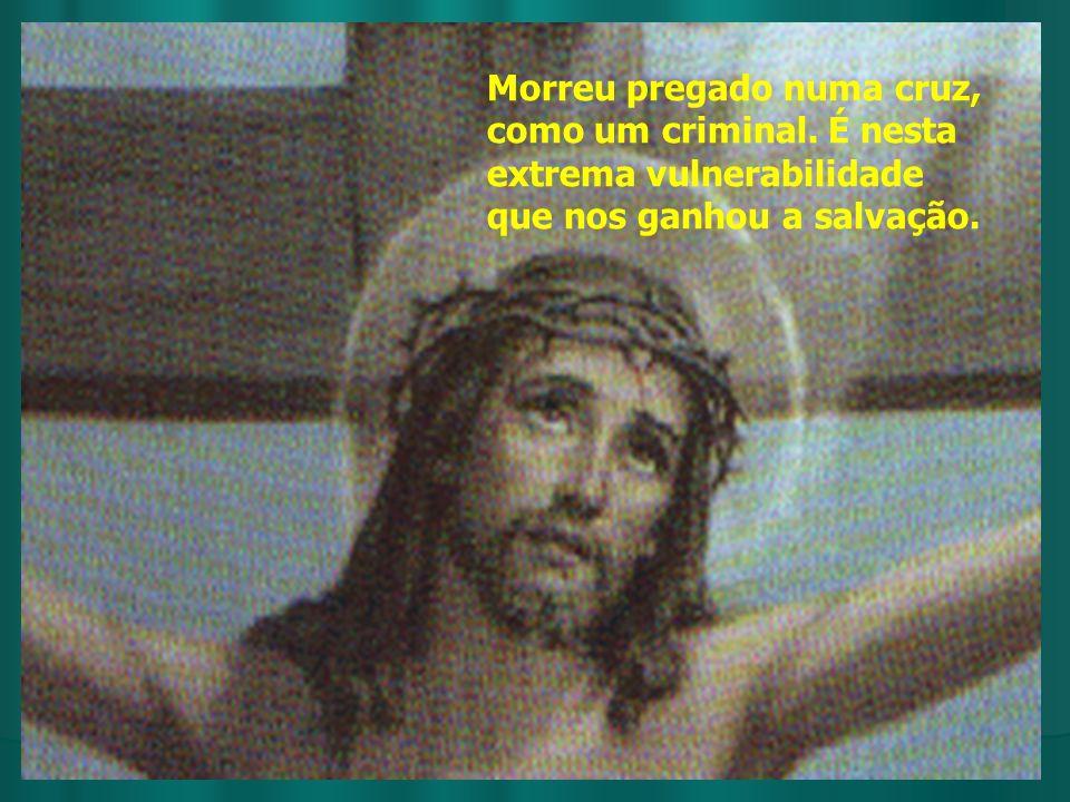Morreu pregado numa cruz, como um criminal