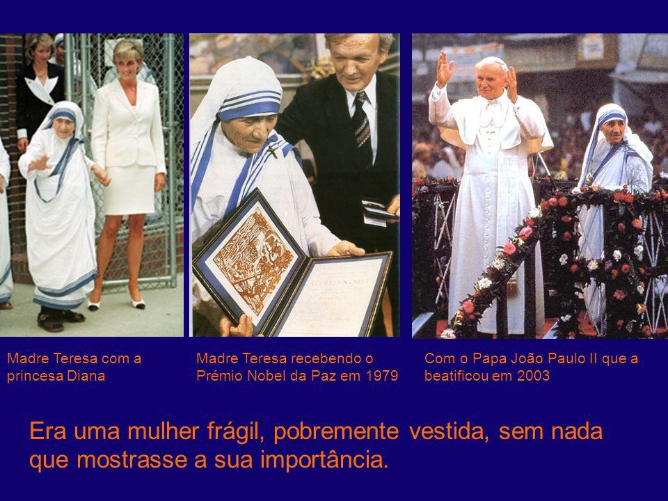 Madre Teresa com a princesa Diana