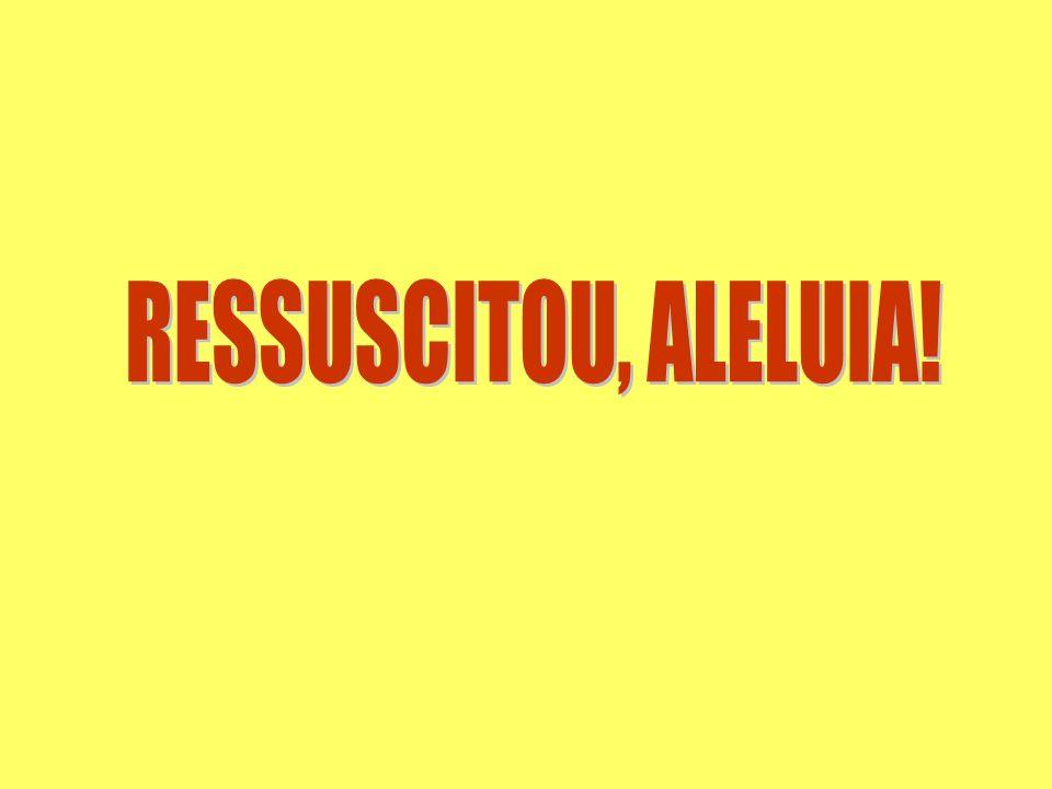 RESSUSCITOU, ALELUIA!