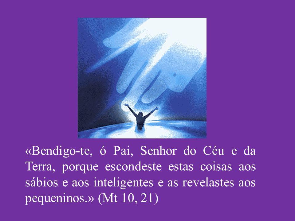 «Bendigo-te, ó Pai, Senhor do Céu e da Terra, porque escondeste estas coisas aos sábios e aos inteligentes e as revelastes aos pequeninos.» (Mt 10, 21)