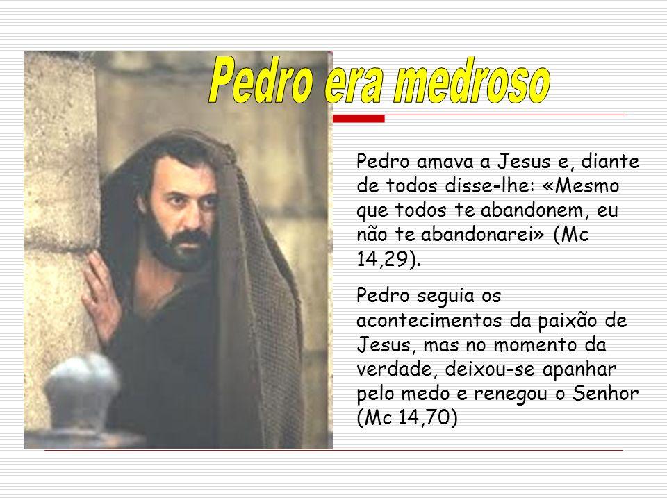 Pedro amava a Jesus e, diante de todos disse-lhe: «Mesmo que todos te abandonem, eu não te abandonarei» (Mc 14,29).