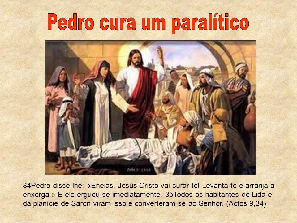 Pedro cura um paralítico