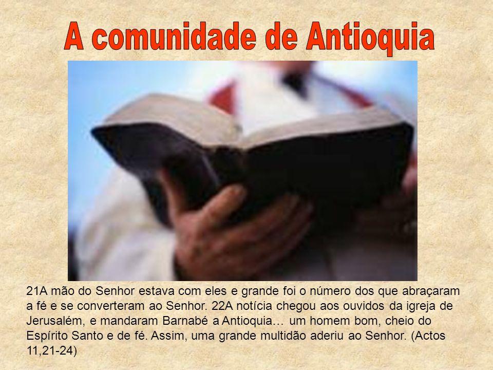 A comunidade de Antioquia
