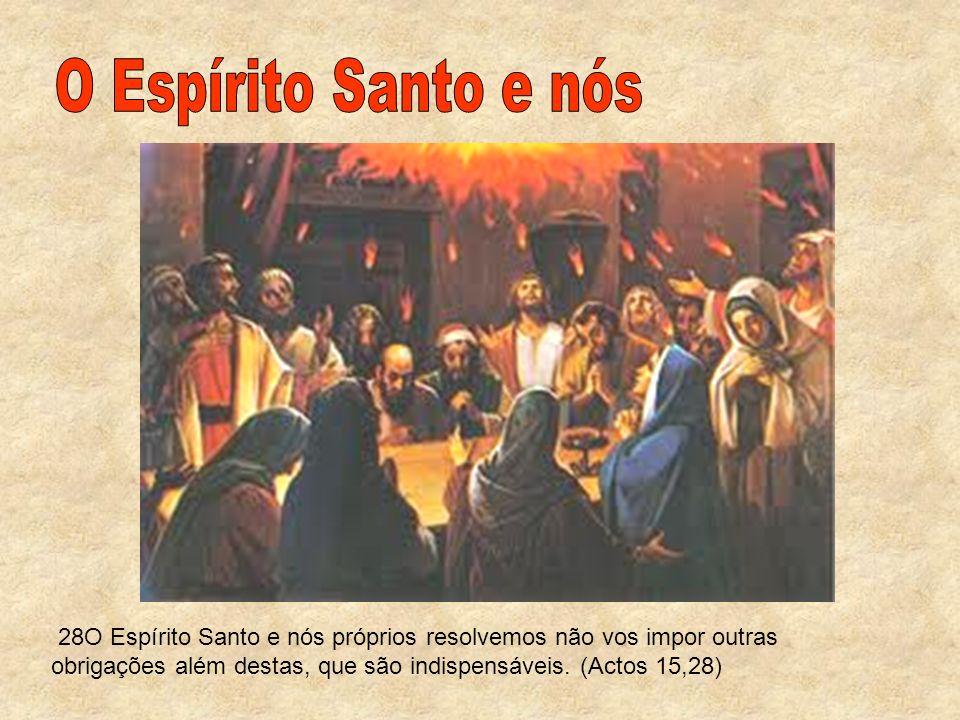 O Espírito Santo e nós