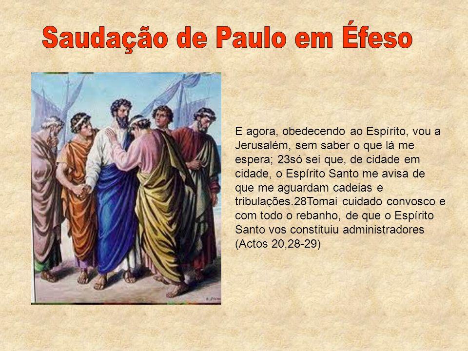 Saudação de Paulo em Éfeso