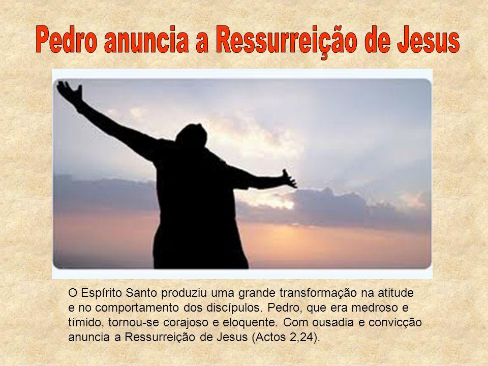 Pedro anuncia a Ressurreição de Jesus