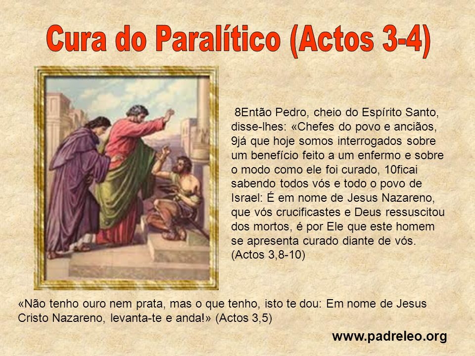 Cura do Paralítico (Actos 3-4)