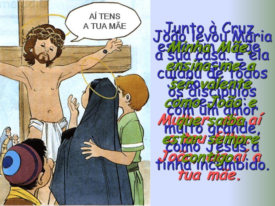 João levou Maria a sua casa