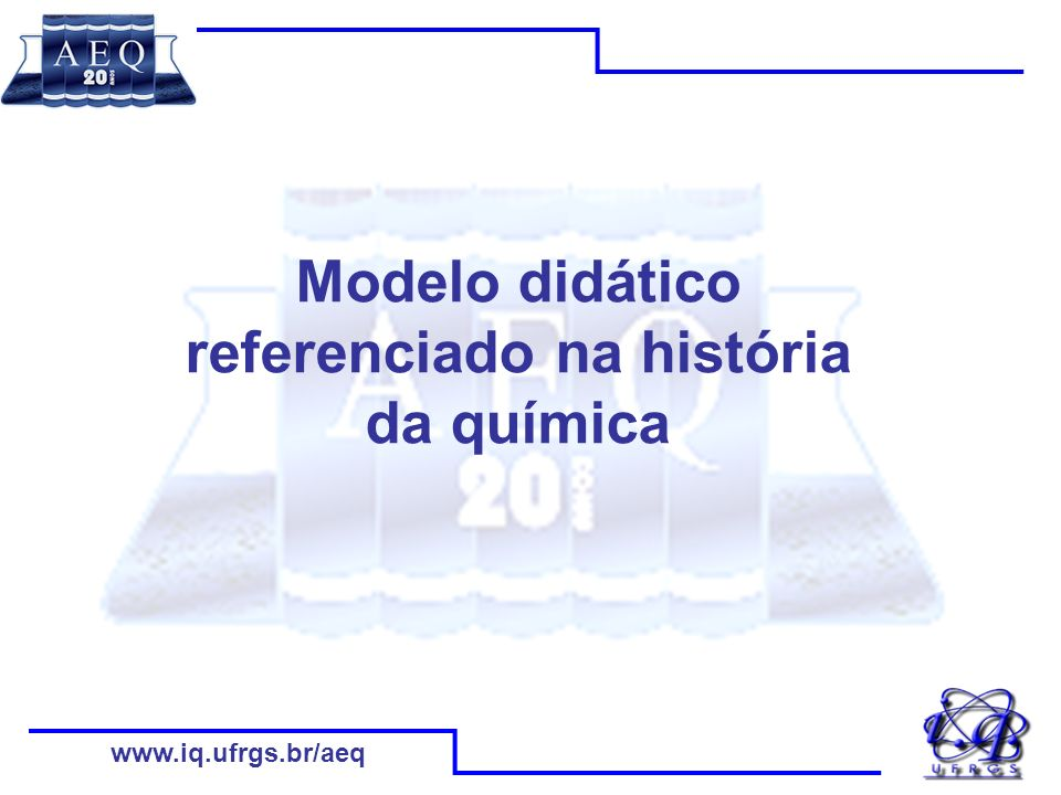 Modelo didático referenciado na história da química