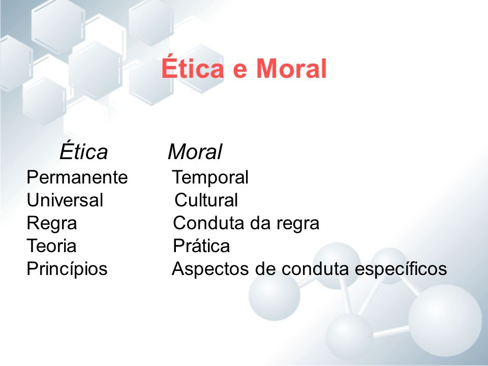 Ética e Moral Ética Moral Permanente Temporal Universal Cultural