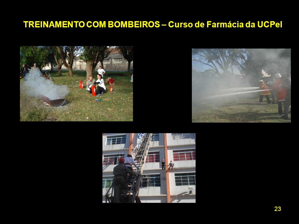 TREINAMENTO COM BOMBEIROS – Curso de Farmácia da UCPel