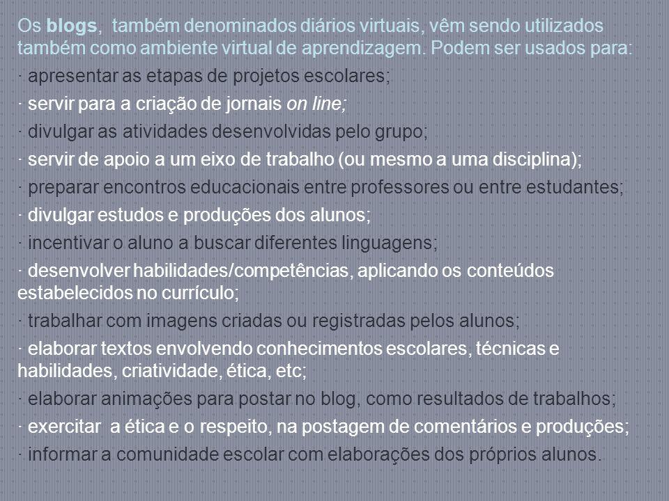· apresentar as etapas de projetos escolares;