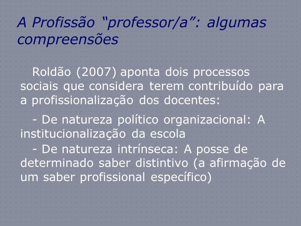 A Profissão professor/a : algumas compreensões