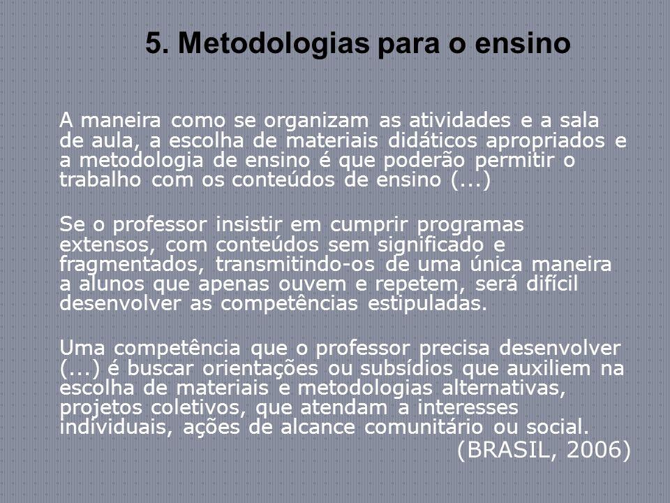 5. Metodologias para o ensino