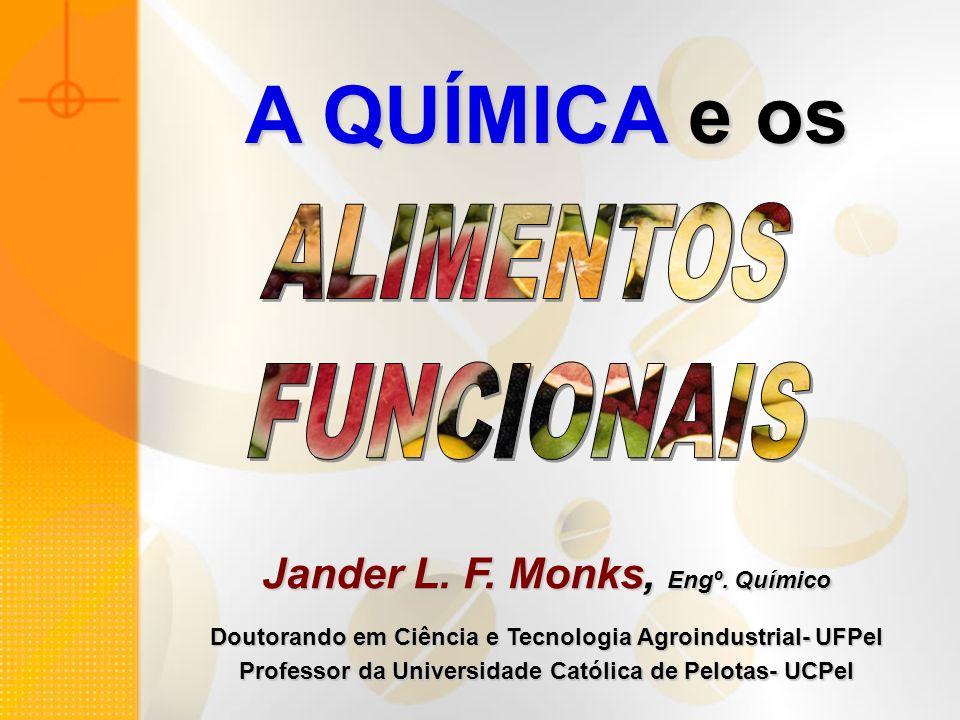 A QUÍMICA e os ALIMENTOS FUNCIONAIS Jander L. F. Monks, Engº. Químico