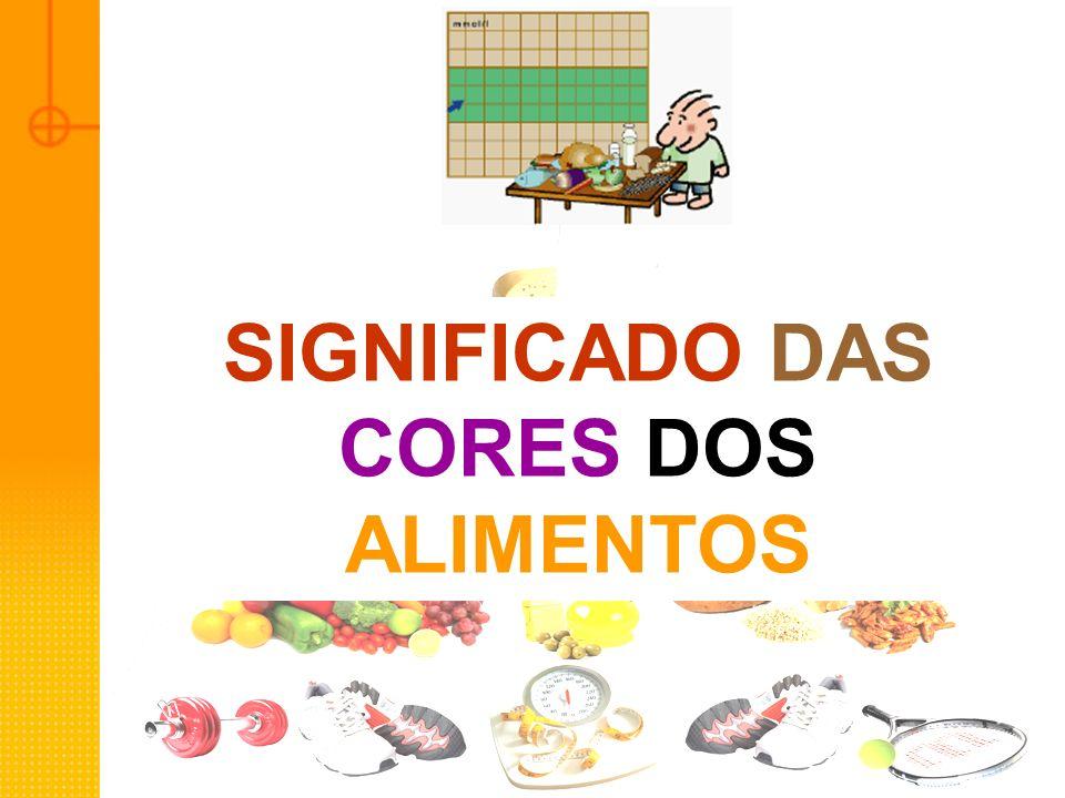 SIGNIFICADO DAS CORES DOS ALIMENTOS