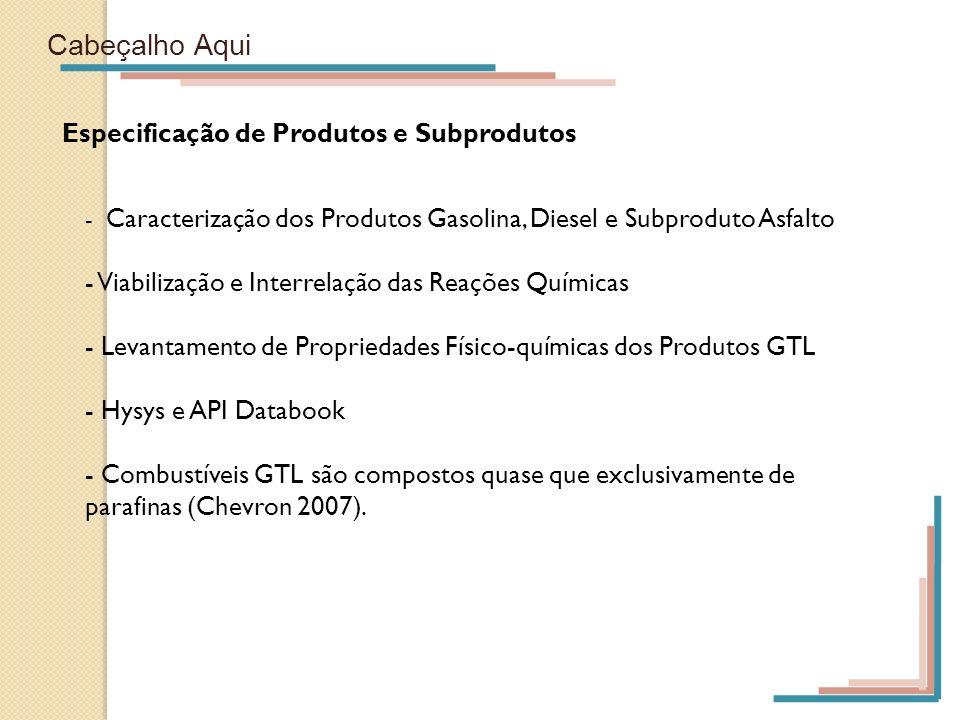 Cabeçalho Aqui Especificação de Produtos e Subprodutos