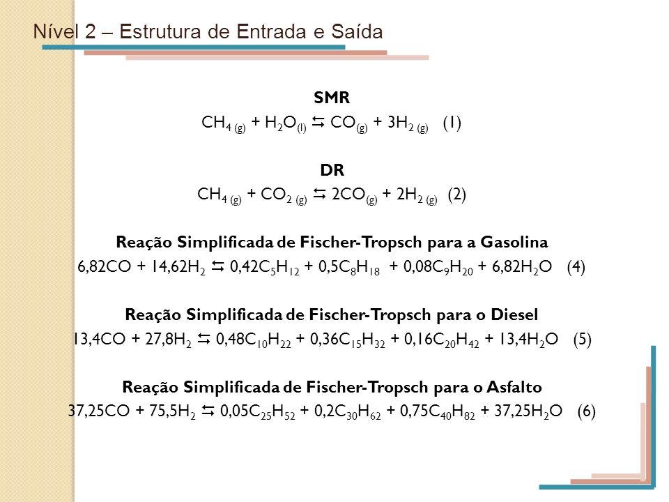 Reação Simplificada de Fischer-Tropsch para o Diesel