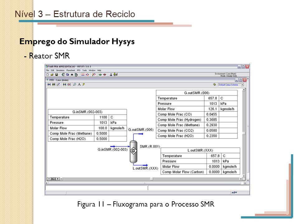 Figura 11 – Fluxograma para o Processo SMR