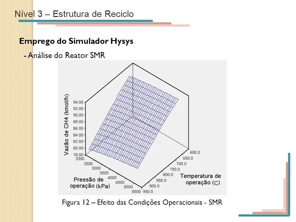 Figura 12 – Efeito das Condições Operacionais - SMR