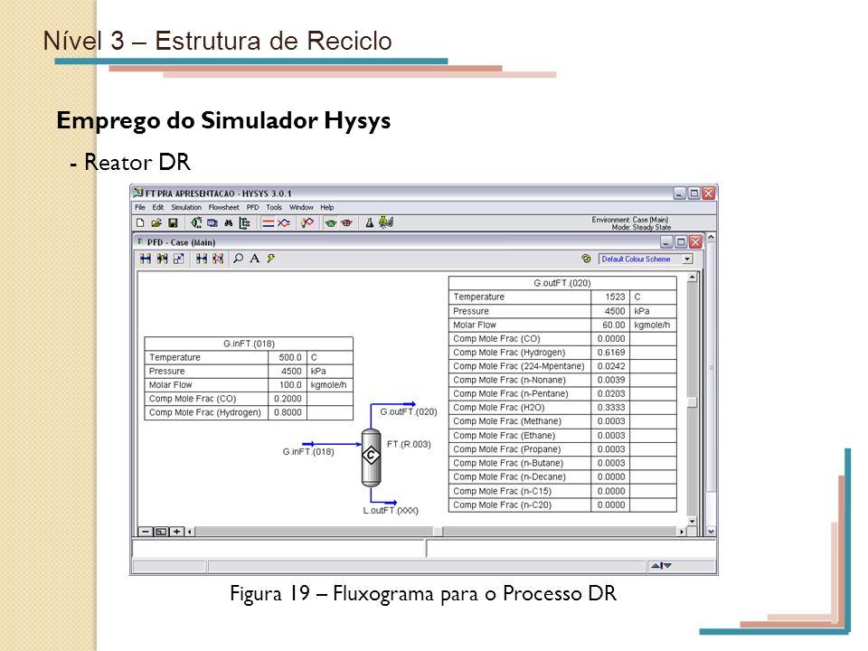 Figura 19 – Fluxograma para o Processo DR