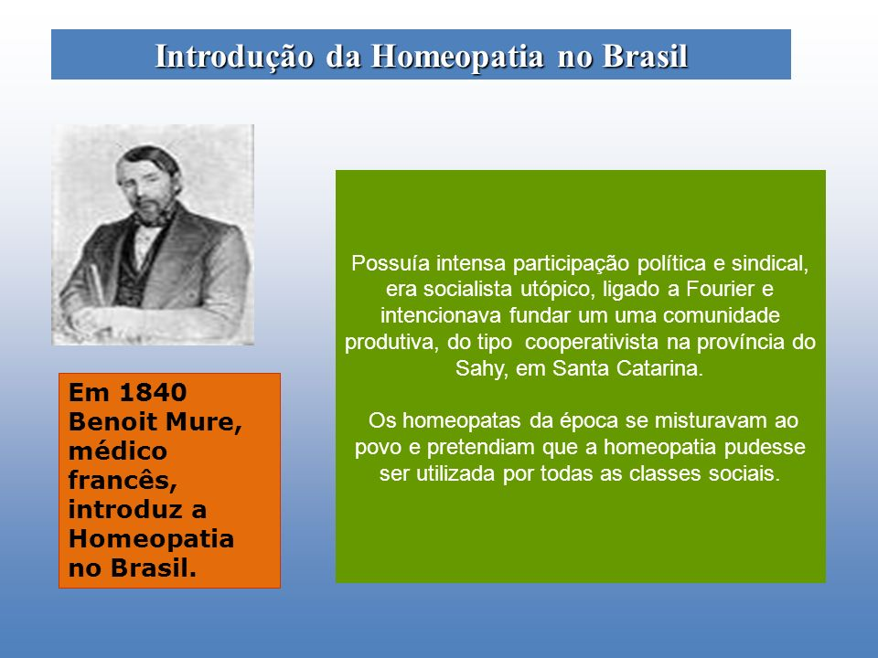 Introdução da Homeopatia no Brasil