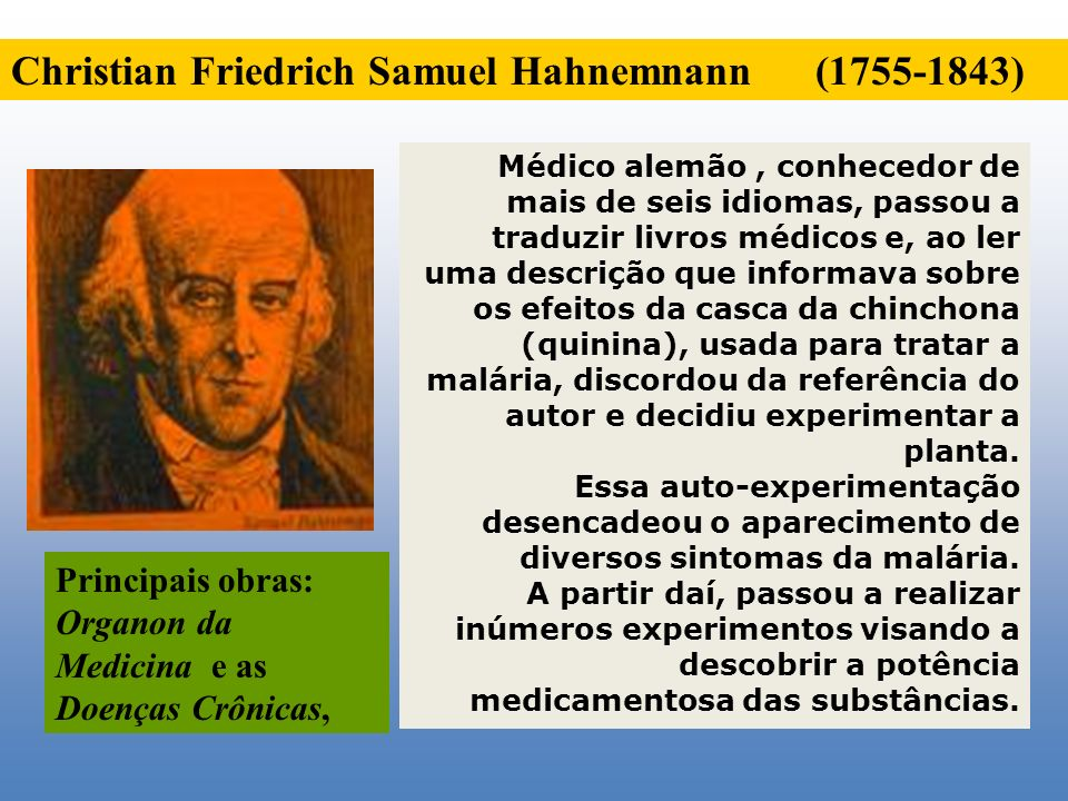 Christian Friedrich Samuel Hahnemnann (1755-1843)