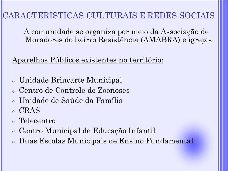 CARACTERISTICAS CULTURAIS E REDES SOCIAIS