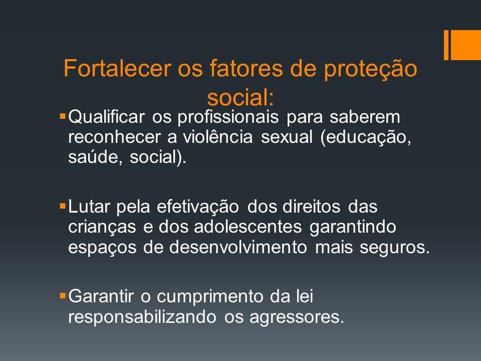 Fortalecer os fatores de proteção social:
