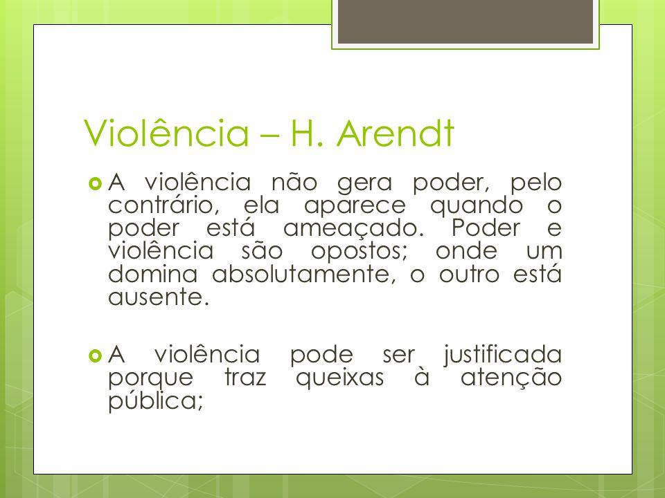 Violência – H. Arendt