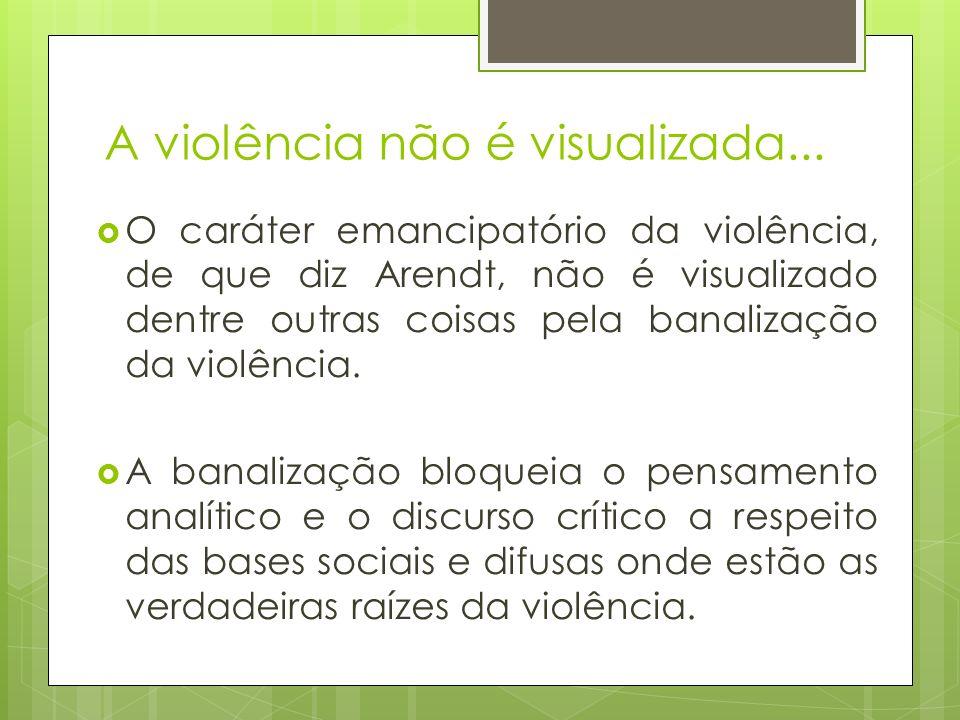 A violência não é visualizada...