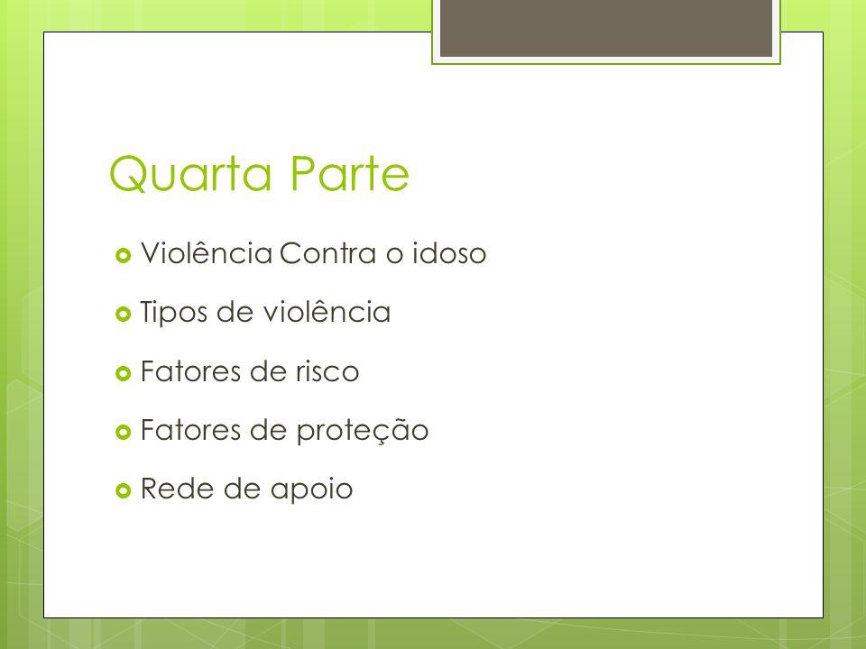 Quarta Parte Violência Contra o idoso Tipos de violência