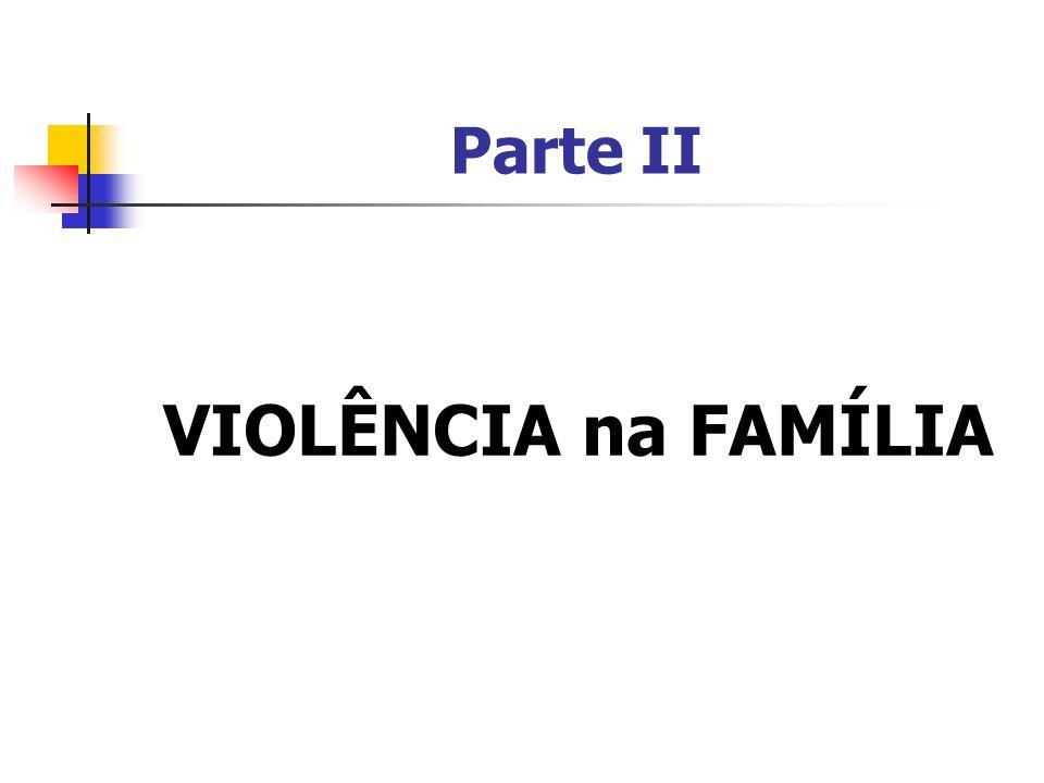 Parte II VIOLÊNCIA na FAMÍLIA