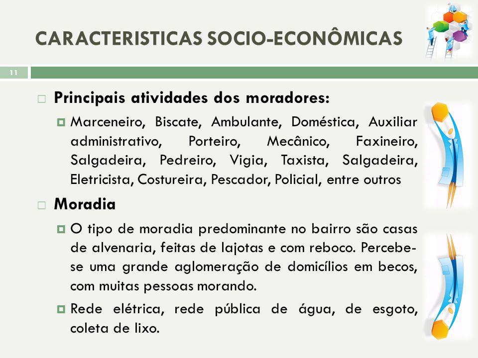 CARACTERISTICAS SOCIO-ECONÔMICAS