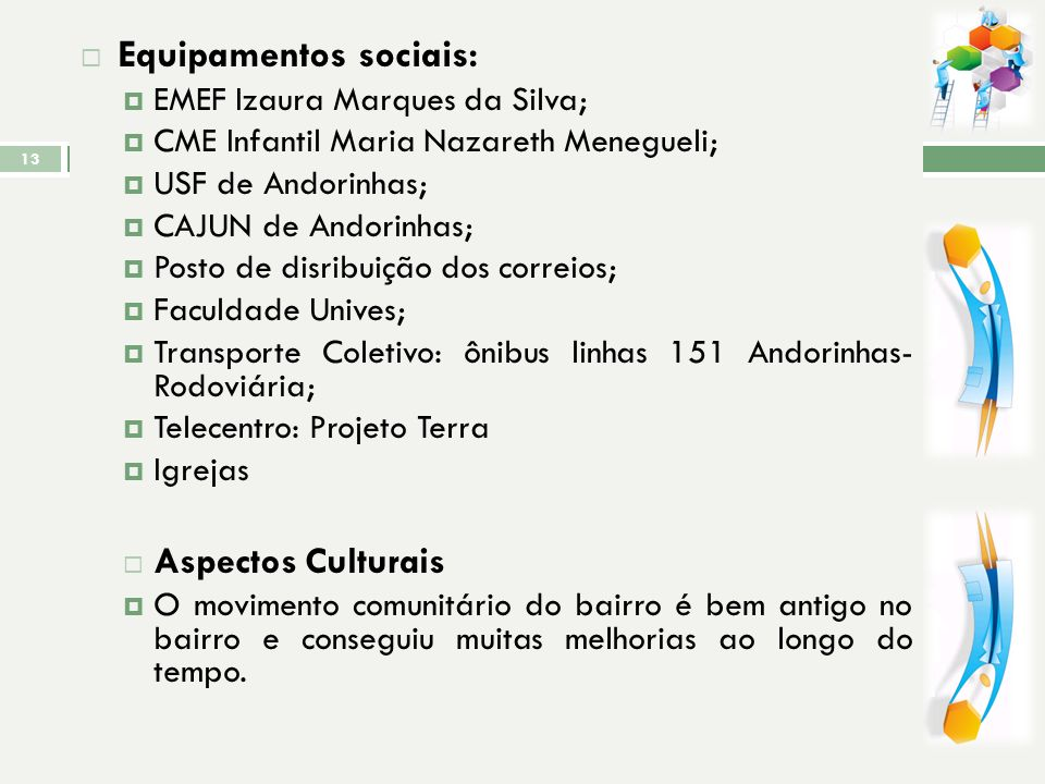 Equipamentos sociais: