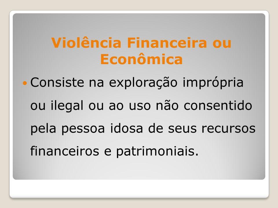 Violência Financeira ou Econômica