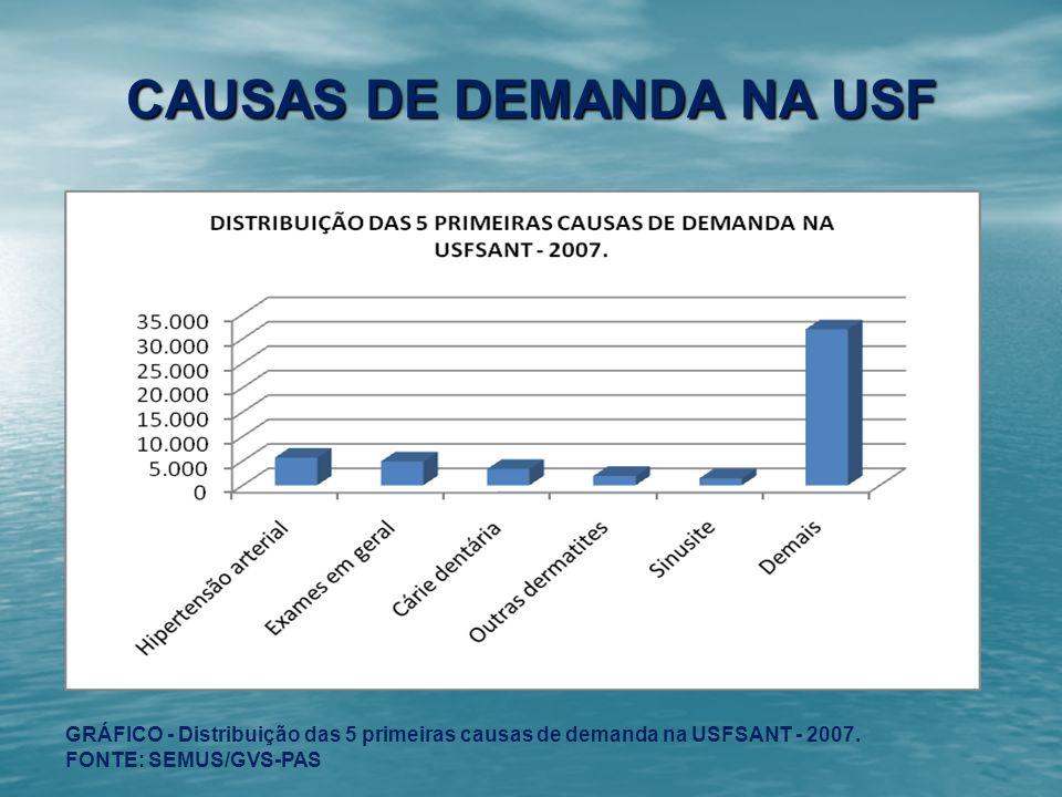 CAUSAS DE DEMANDA NA USF