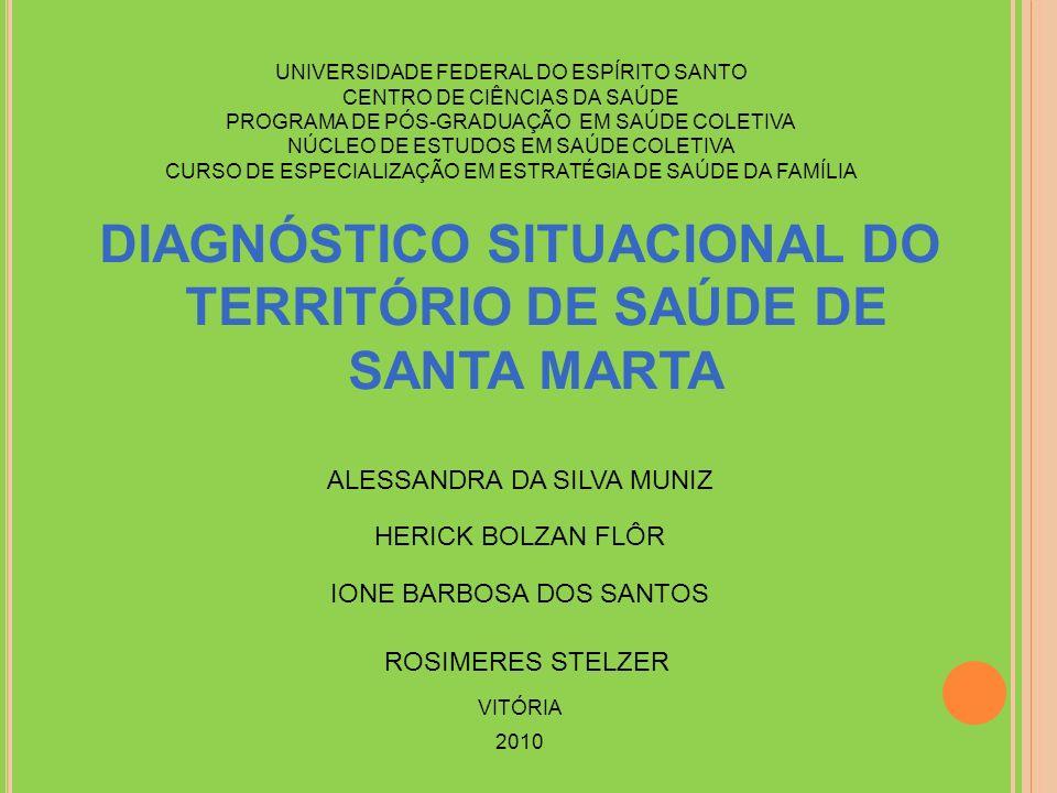 DIAGNÓSTICO SITUACIONAL DO TERRITÓRIO DE SAÚDE DE SANTA MARTA